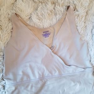 Spanx crossover v-neck nude tank top XL